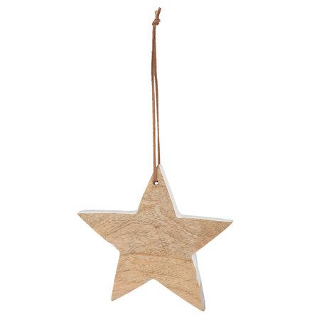 2 STUKS Hanger ster 16*2*15 cm Bruin | 6H1460 | Clayre & Eef