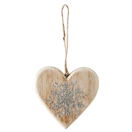 2 STUKS Decoratie hanger hart 8*1*8 cm Creme | 6H1490S | Clayre & Eef