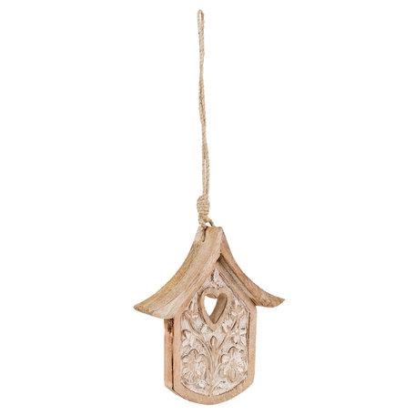Hanger vogelhuis 15*3*17 cm Bruin | 6H1515S | Clayre & Eef