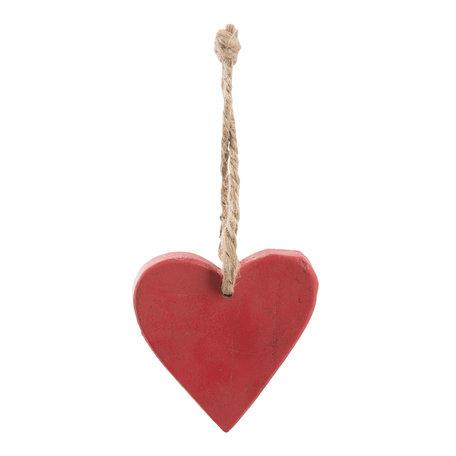Hanger hart hout (set 6) 7*1*7 cm (6) Rood | 6H1521 | Clayre & Eef