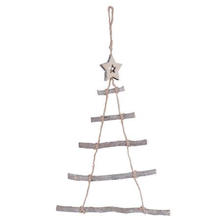Hanger kerstboom 34*1*50 cm Grijs | 6H1558 | Clayre & Eef