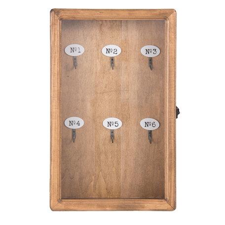 Sleutelkast 24*7*38 cm Bruin | 6H1570 | Clayre & Eef