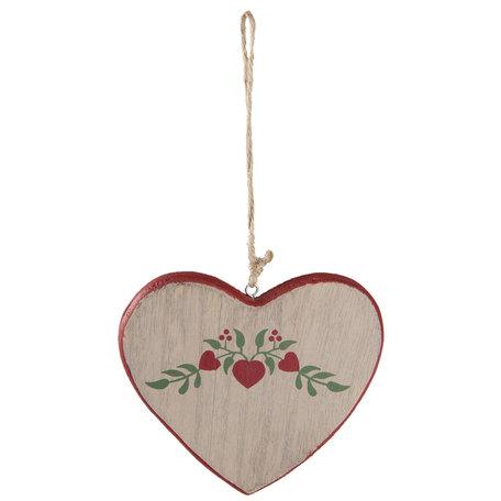 2 STUKS Decoratie hanger hart 12*1*11 cm Meerkleurig | 6H1632M | Clayre & Eef