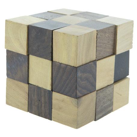 Decoratie kubus 6*6*6 cm Bruin | 6H1646 | Clayre & Eef