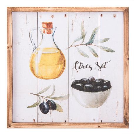 Schilderij 40*2*40 cm Meerkleurig | 6H1664 | Clayre & Eef