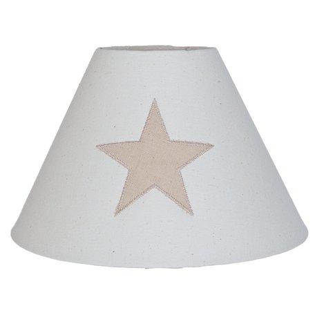 Lampenkap ø 25*16 cm Creme | 6LAK0350 | Clayre & Eef
