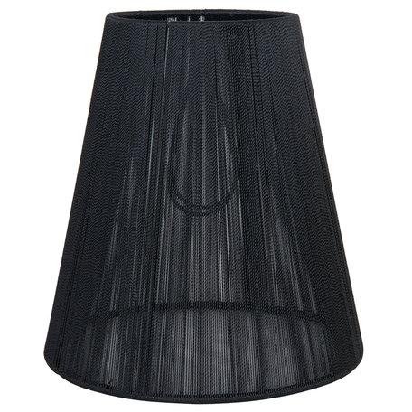 Lampenkap ø 14*15 cm / E14 Zwart   6LAK0362Z   Clayre & Eef