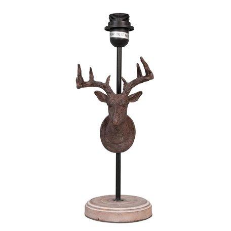 Lampenvoet ø 20*46 cm E27/max 1*60W Bruin | 6LMP159 | Clayre & Eef