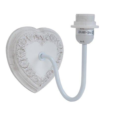 Wandlamp 21*16*20 cm E27/max 1*60W Wit | 6LMP367 | Clayre & Eef
