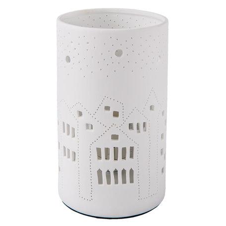 Tafellamp ø 12*20 cm E27/max 1*30W Wit | 6LMP487 | Clayre & Eef