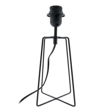 Lampenvoet 15*15*29 cm E27/max 1*40W Zwart   6LMP580   Clayre & Eef