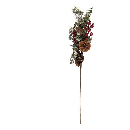 Decoratie kersttak 67 cm Rood | 6PL0192 | Clayre & Eef