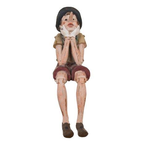 Decoratie figuur Pinokkio 14*8*29 cm Multi | 6PR0149 | Clayre & Eef