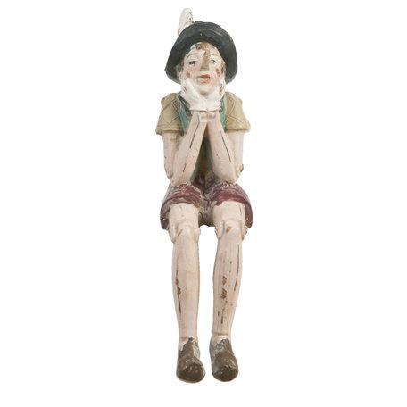Decoratie figuur Pinokkio 4*7*15 cm Meerkleurig | 6PR0149KL | Clayre & Eef