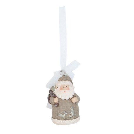 2 STUKS Hanger kerstman 4*3*6 cm Grijs | 6PR0848 | Clayre & Eef