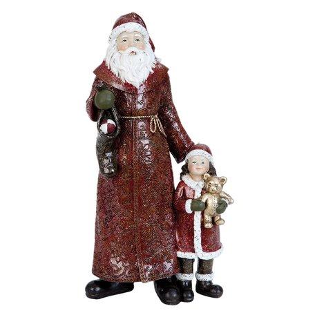 Kerstman 13*8*25 cm Rood | 6PR0887 | Clayre & Eef