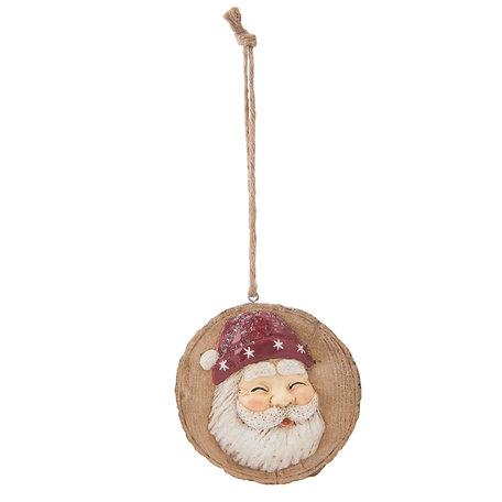 Hanger kerstman 10*2*11 cm Meerkleurig | 6PR1148 | Clayre & Eef