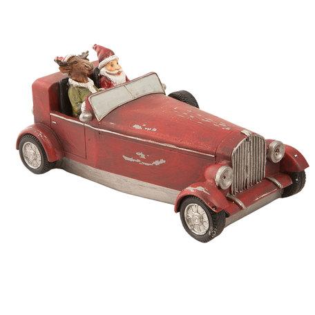 Decoratie kerstman 18*9*9 cm Rood | 6PR1150 | Clayre & Eef