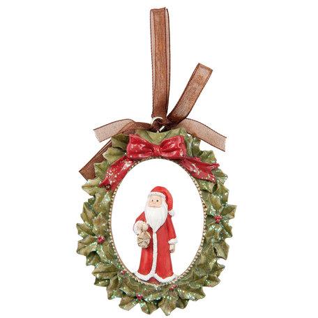 2 STUKS Hanger kerstman 7*1*8 cm Groen | 6PR1220 | Clayre & Eef
