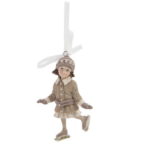 Hanger meisje 6*4*10 cm Beige | 6PR1224 | Clayre & Eef
