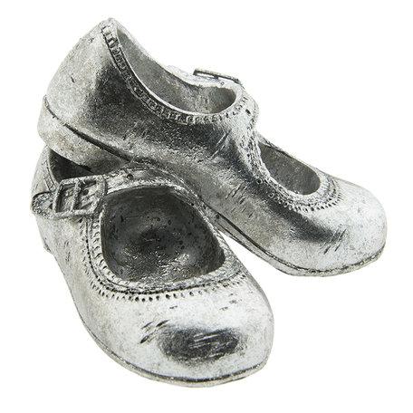 Decoratie schoenen 12*10*8 cm Zilverkleurig | 6PR2210 | Clayre & Eef