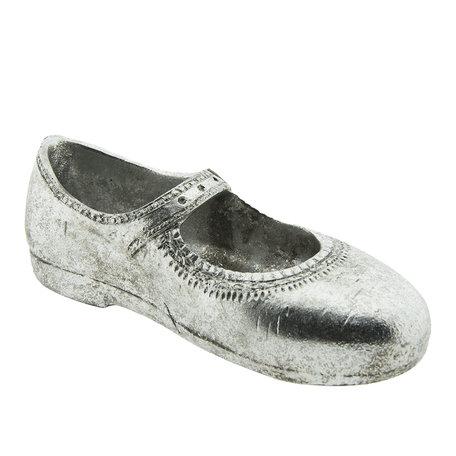 Decoratie schoen 15*6*5 cm Zilverkleurig | 6PR2212 | Clayre & Eef