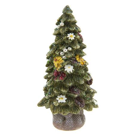 Decoratie kerstboom 8*8*16 cm Groen   6PR2220   Clayre & Eef