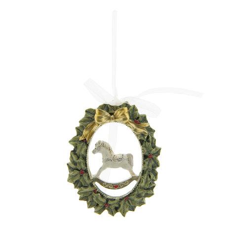 2 STUKS Hanger 8*14*8 cm Groen | 6PR2224 | Clayre & Eef
