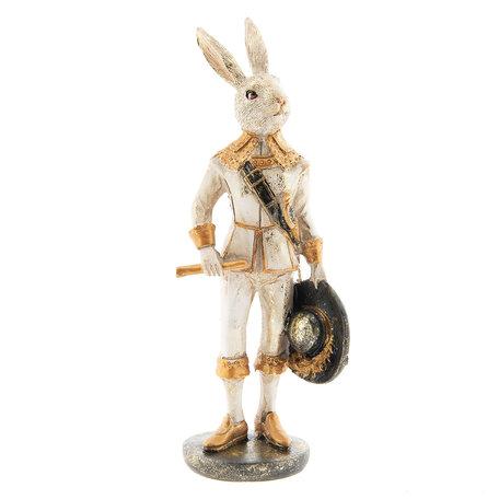 Decoratie konijn 7*7*23 cm Meerkleurig | 6PR2306 | Clayre & Eef