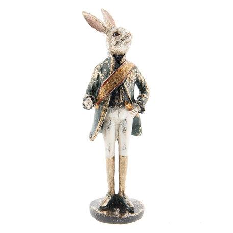 Decoratie konijn 7*7*23 cm Meerkleurig | 6PR2307 | Clayre & Eef
