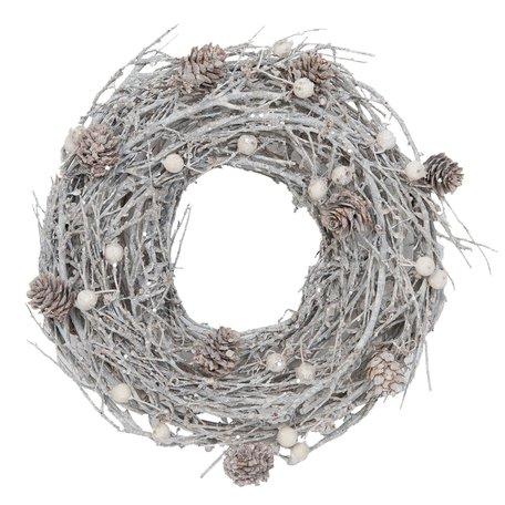 Decoratie krans ø 27 cm Wit | 6RO0331M | Clayre & Eef