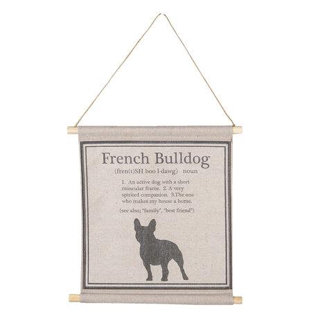 Wandkaart met hond 34*35*2 cm Zwart | 6WK0022 | Clayre & Eef