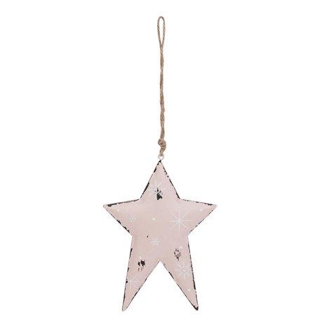 Hanger ster 12*1*16 cm Roze | 6Y1860M | Clayre & Eef
