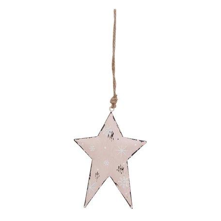 2 STUKS Hanger ster 9*13 cm Roze | 6Y1860S | Clayre & Eef