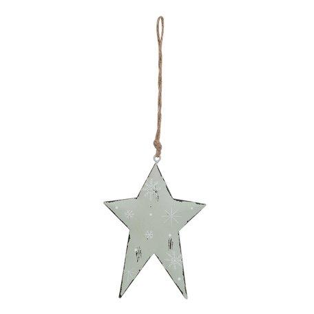 Hanger ster 12*1*16 cm Groen | 6Y1861M | Clayre & Eef