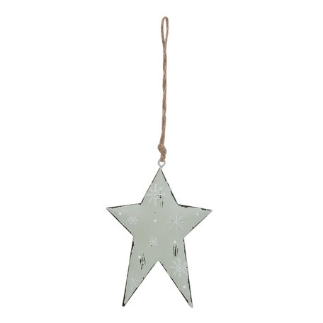 2 STUKS Hanger ster 9*13 cm Groen | 6Y1861S | Clayre & Eef