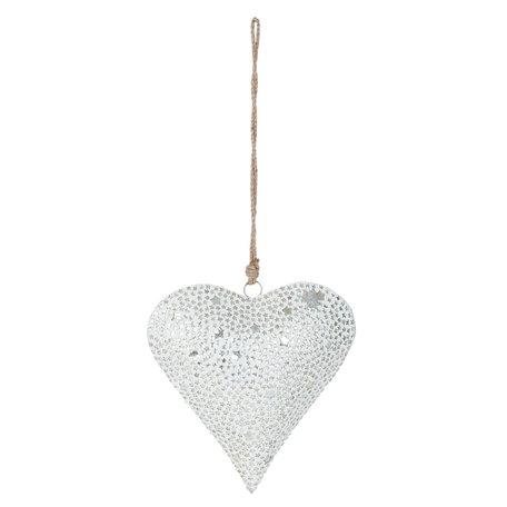 Hanger hart 25*25 cm Wit | 6Y1871M | Clayre & Eef