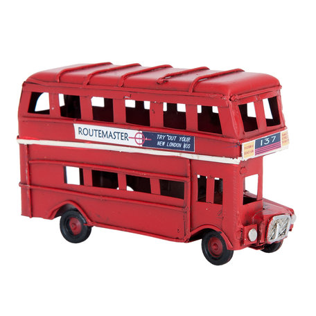 Model bus 11*4*6 cm Rood | 6Y2261 | Clayre & Eef