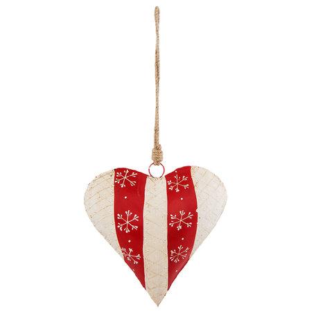 Decoratie hanger hart 19*6*20 cm Rood | 6Y2769L | Clayre & Eef