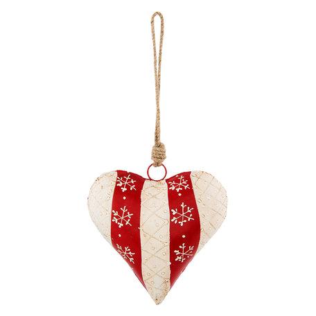 Decoratie hanger hart 15*5*16 cm Rood | 6Y2769M | Clayre & Eef