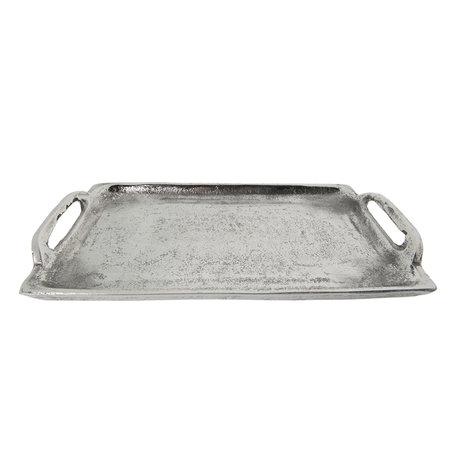 Dienblad 26*14*3 cm Nickel | 6Y2772 | Clayre & Eef