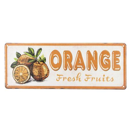 Tekstbord 40*15 cm Oranje | 6Y2821 | Clayre & Eef