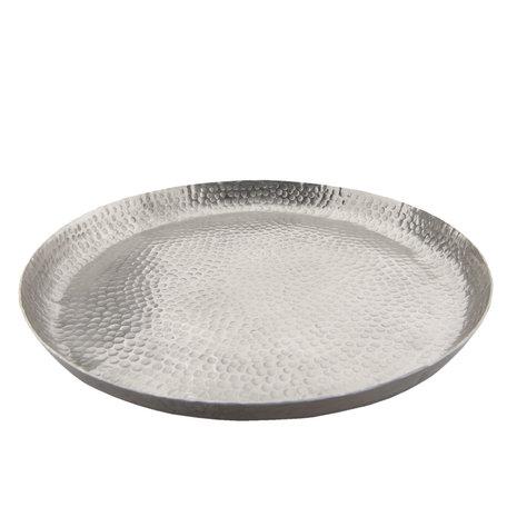 Schaaltje ø 29*2 cm Zilverkleurig | 6ZI367 | Clayre & Eef