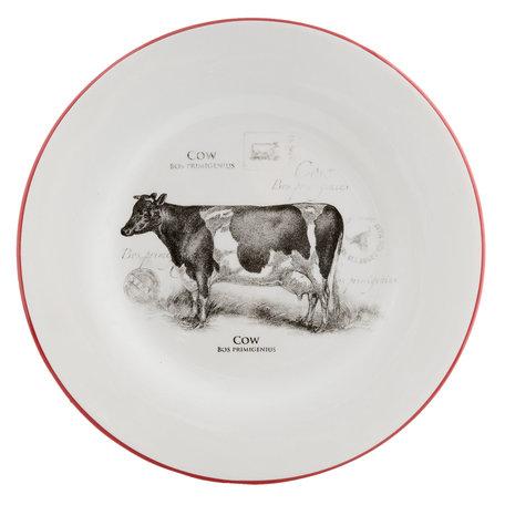Bord koe ø 26*3 cm Rood   CSAFPC   Clayre & Eef