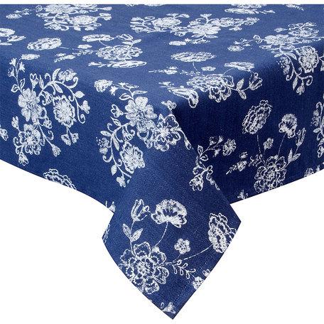Tafelkleed 100*100 cm Blauw | DED01 | Clayre & Eef