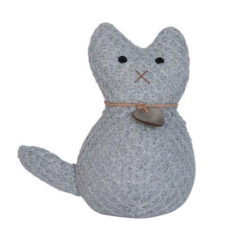Deurstopper kat 20*10*21 cm Grijs | DT0263 | Clayre & Eef