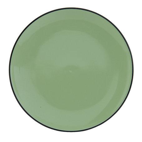Bord ø 26*3 cm Groen | ELFPGR | Clayre & Eef