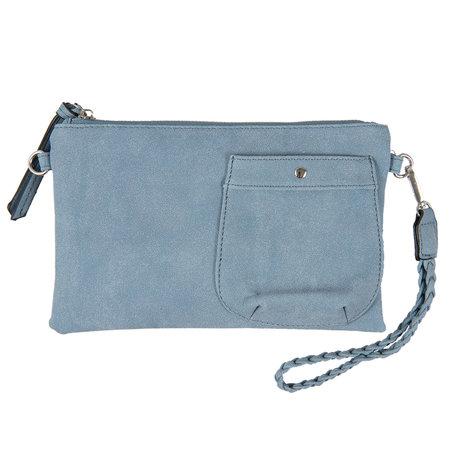 Tas 17*26 cm Blauw | JZBG0148BL | Clayre & Eef