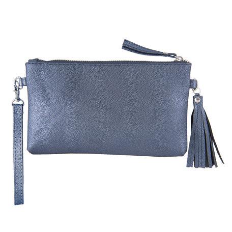 Tas 33*13 cm Blauw | JZBG0154BL | Clayre & Eef