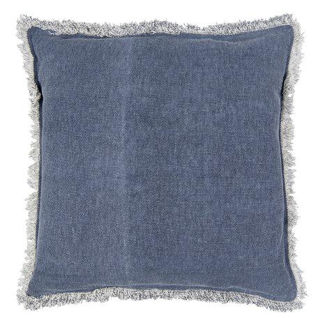 Kussen gevuld 45*45 cm Blauw   KG023.025BL   Clayre & Eef